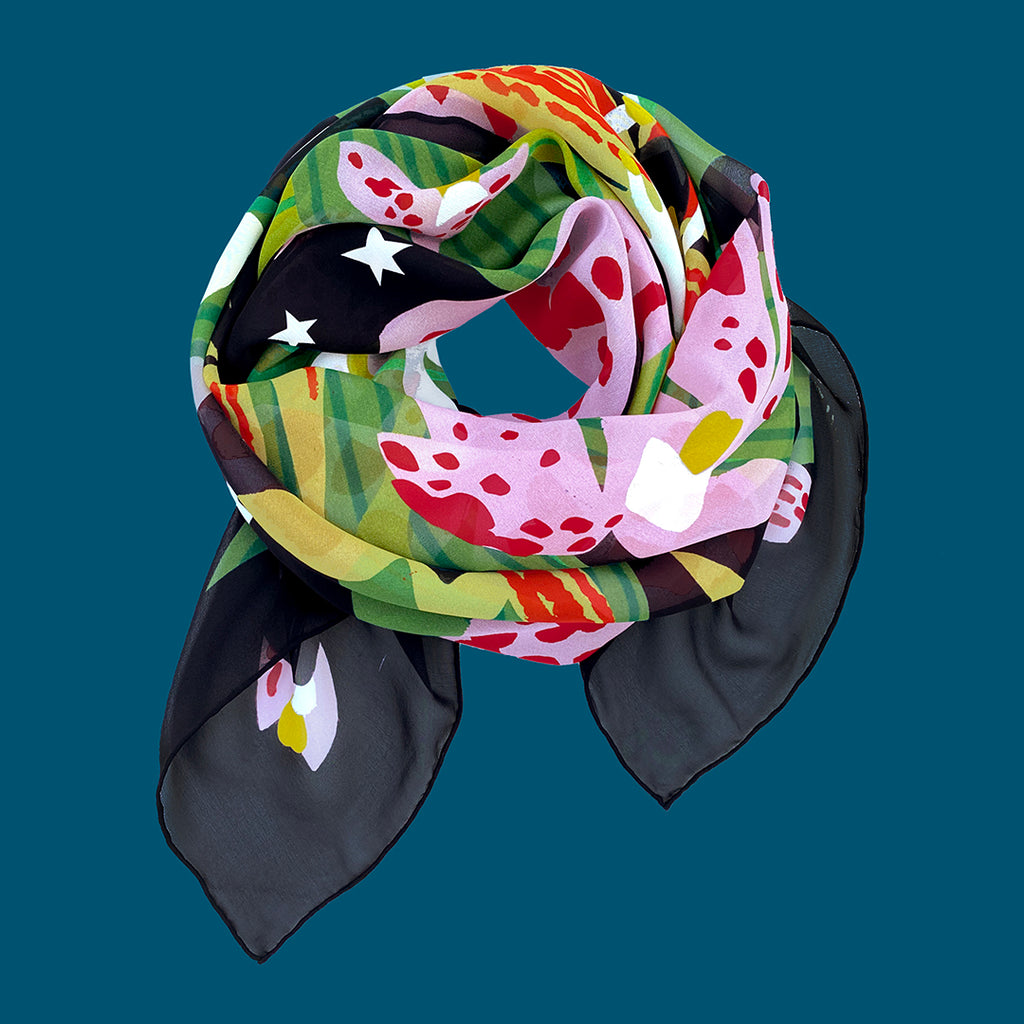 MIDNIGHT ORCHID - Sheer deluxe scarf