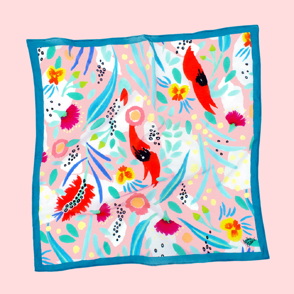 ABSTRACT OZ PINK - Small scarf