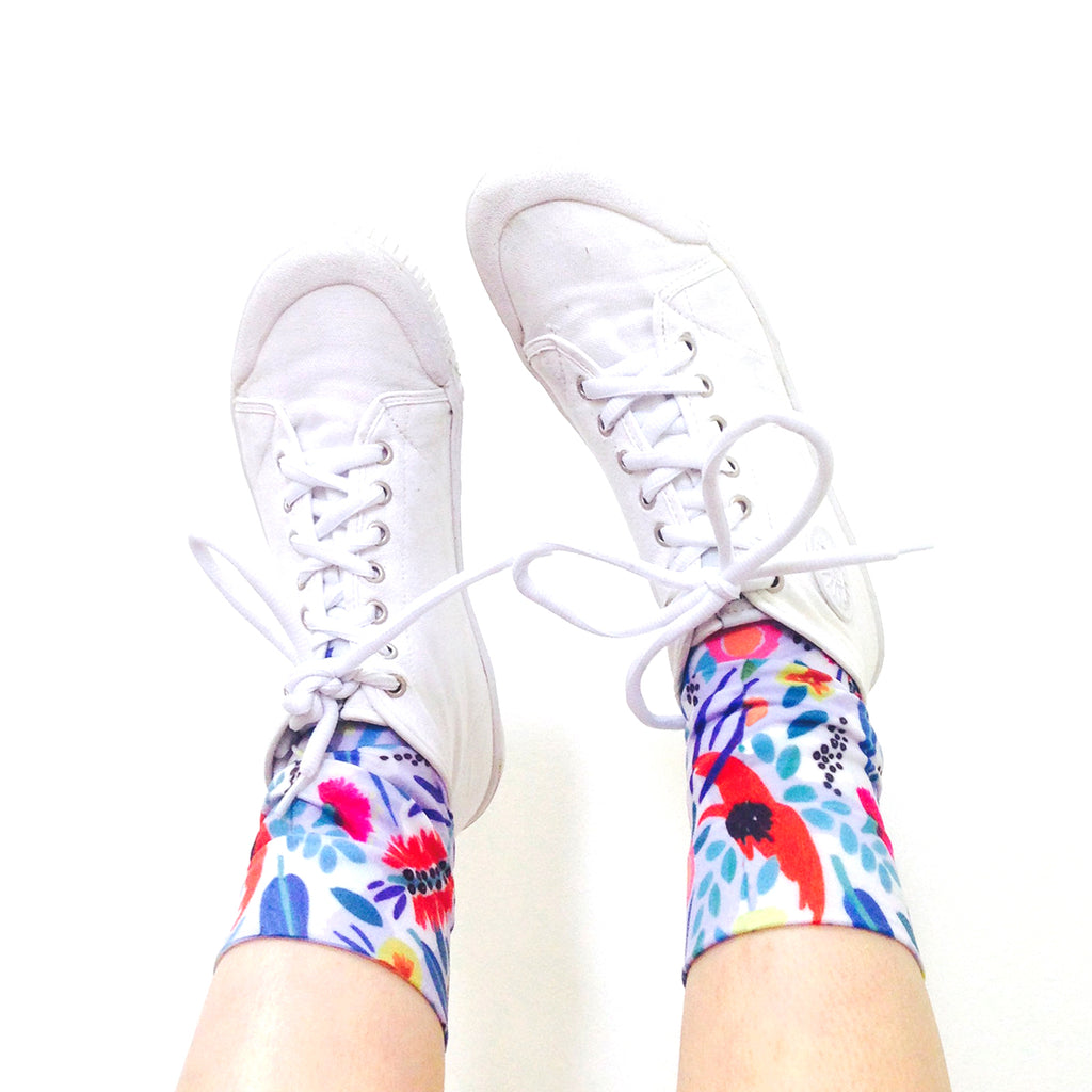 ABSTRACT OZ SOCKS / LAVENDER