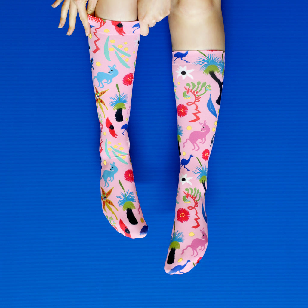 BUSH JAMBOREE SOCKS - PINK