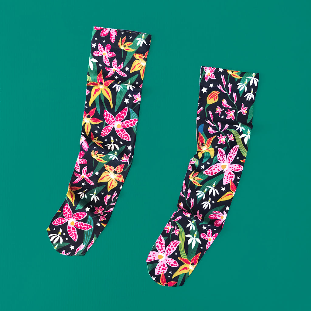 MIDNIGHT ORCHID SOCKS