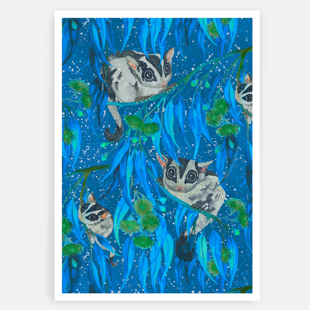 ART PRINT - NOCTURNAL / BLUE