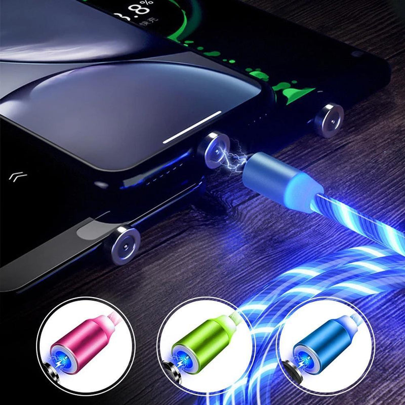 LED Magnetic 3 in 1 USB Ladekabel