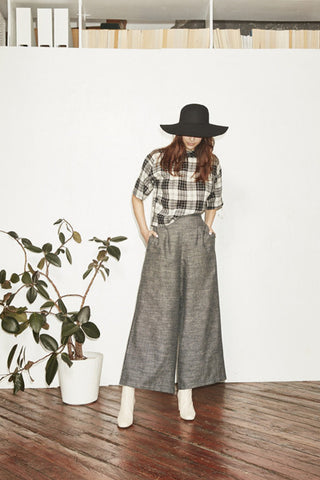 F16 Crop Top Plaid