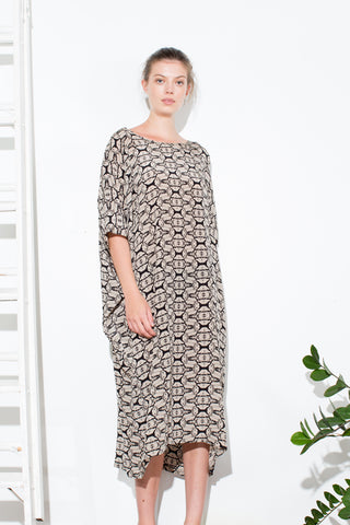 * TUNIC DRESS SEAWEED / LONG