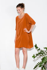* TUNIC DRESS RUST