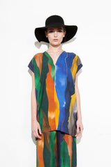 LANDSCAPE WRAP DRESS