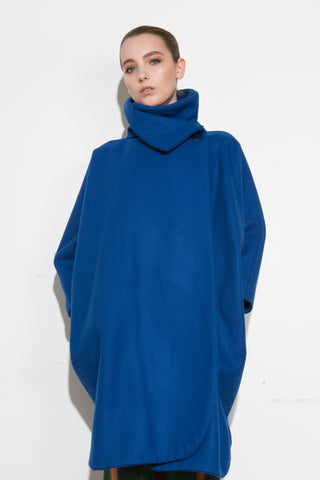 *F17 Carol Coat Blue Wool