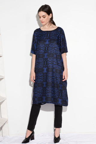 TUNIC DRESS BLUE BRIDGE