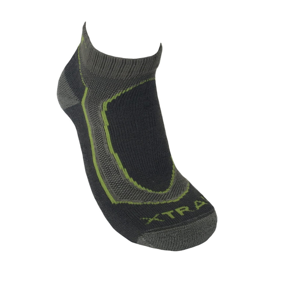 Mohair Mens Green X-Trail Runner Sports Sock