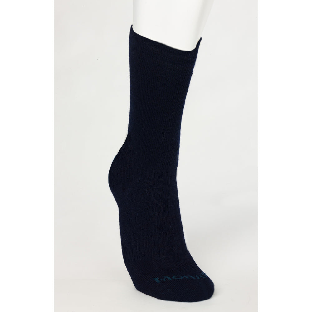 Mohair Merino Wool Blend Lightweight Black Medi-sock