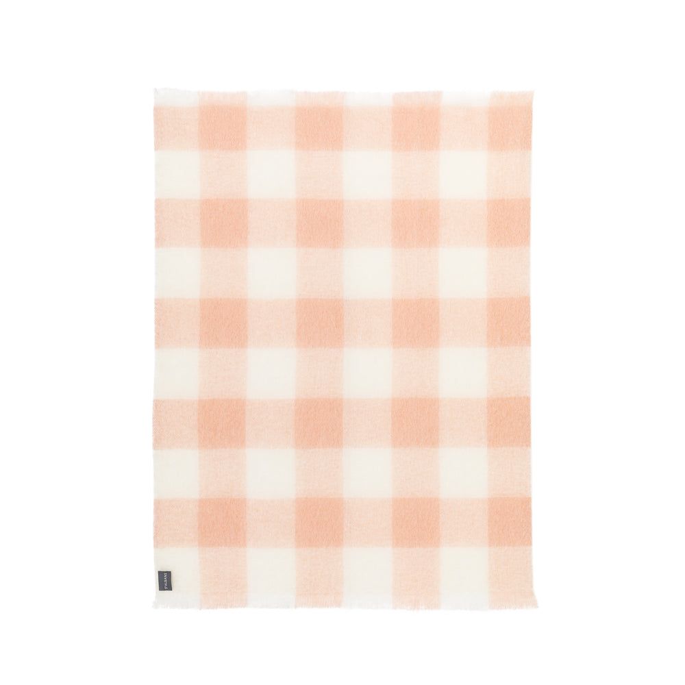 Mohair Blush Check Knee Rug