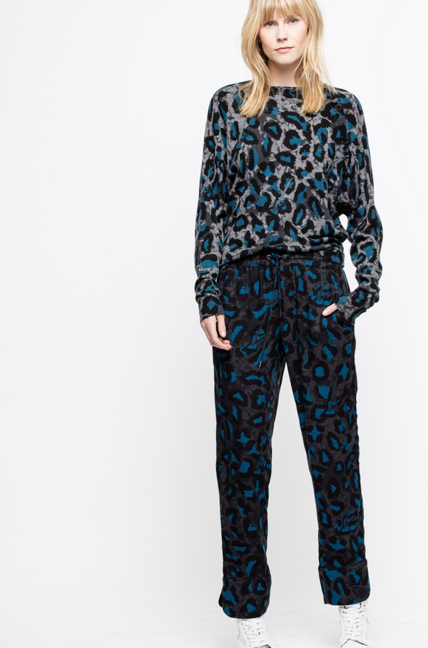 [Zadig&Voltaire] 쟈딕앤볼테르 스웨터 PULL JUSTY PRINT CACHEMIRE