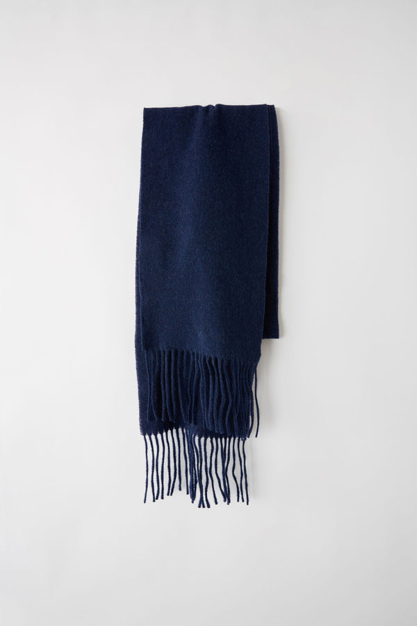 [ACNE STUDIOS] 아크네스튜디오 울 머플러 (fringed denim blue melange)