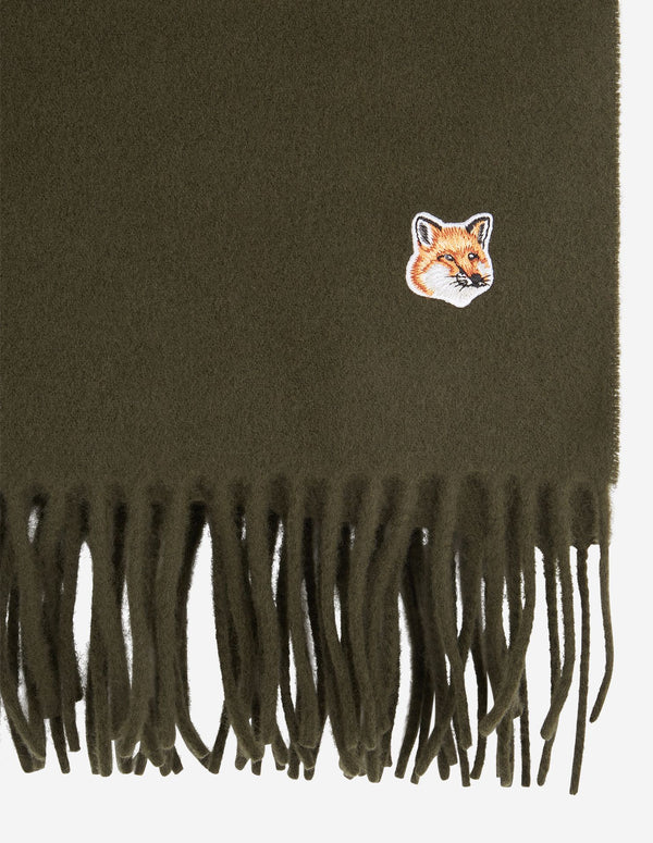 [MAISON KISUNE] 메종 키츠네 (SMALL FOX HEAD WOOL SCARF) / 2색상