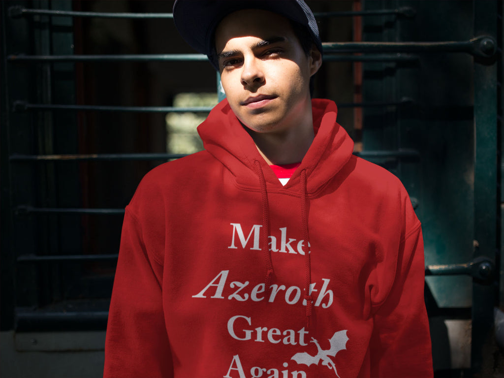 Make_Azeroth_Great_Again_Hooded_Sweatshirt_gamer_hoodie_video_games_Dragon_Brotherhood