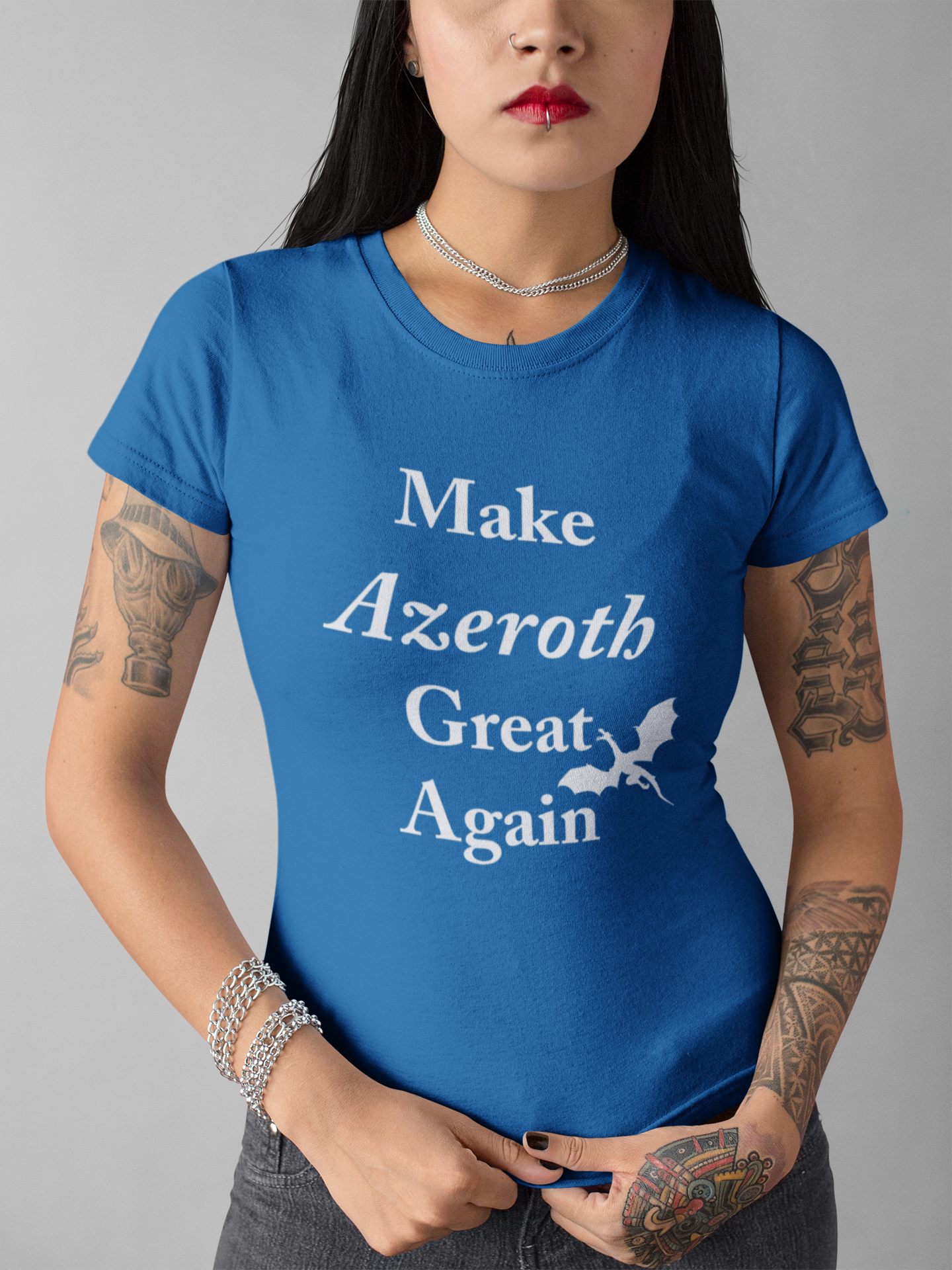 Make_Azeroth_Great_Again_Ladies_short_sleeve_t_shirt_gamer_tee_Dragon_Brotherhood