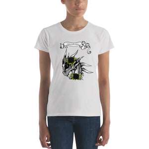 Dream-Big-Dragon-and-Black-Roses-Women's-short-sleeve-t-shirt-Dragon-Brotherhood