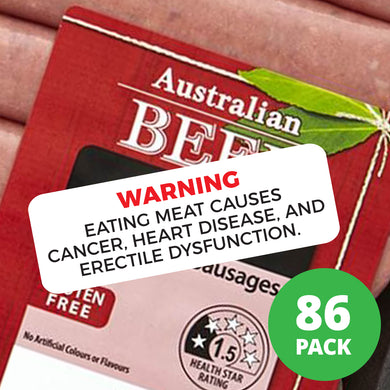 Warning Eating Meat Causes Cancer Stickers
