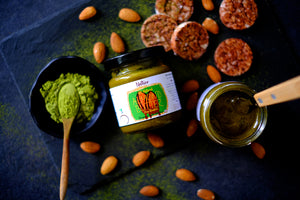 Organic All Natural Matcha Almond Butter Crafted In Singapore