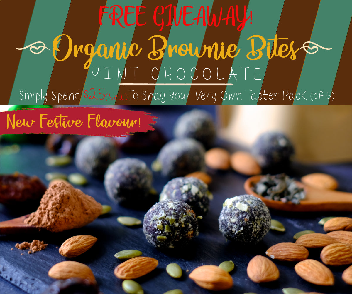 Nuttier Organic Mint Chocolate Brownie Bites Free Giveaway