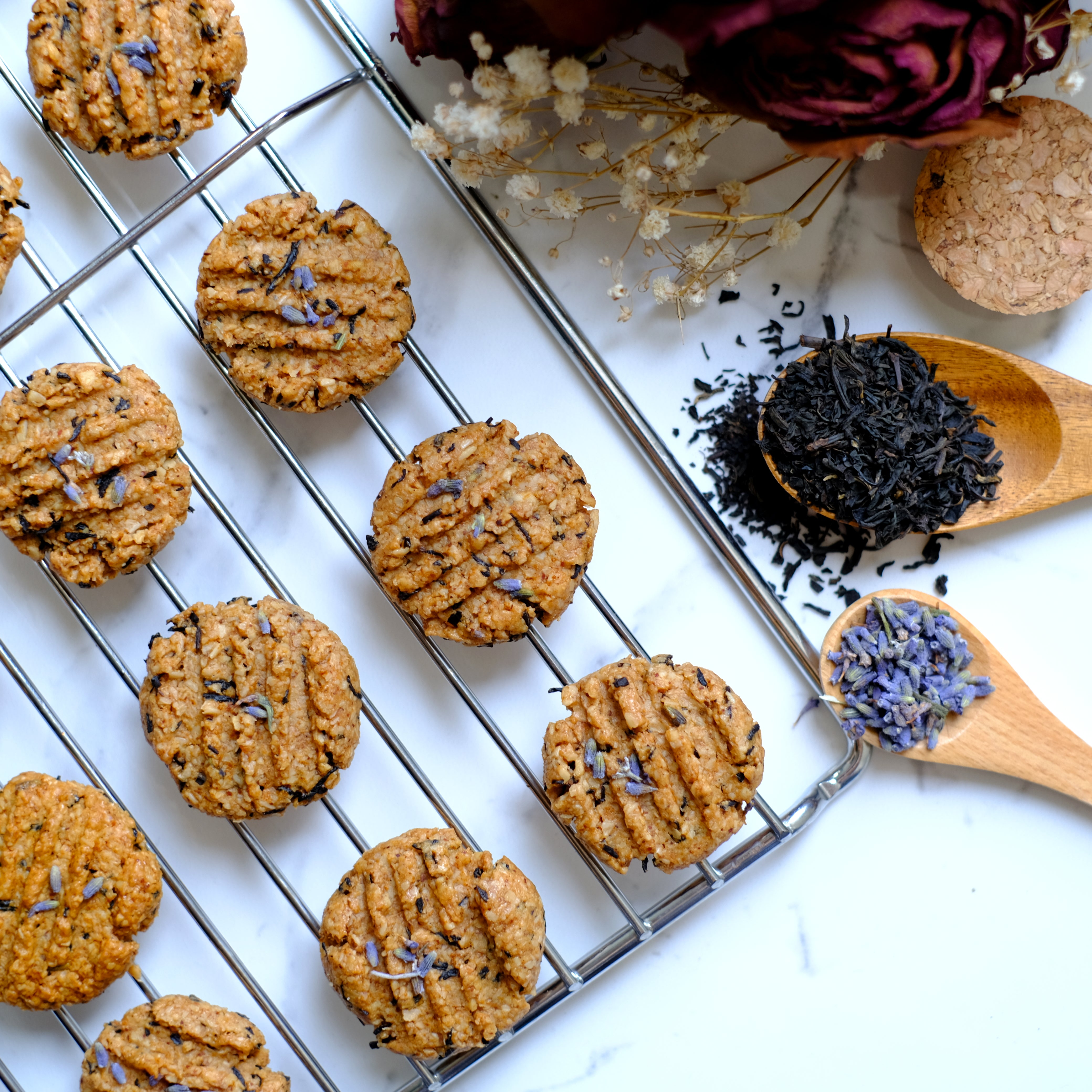 Organic Earl Grey-Lavender Almond Butter Cookies