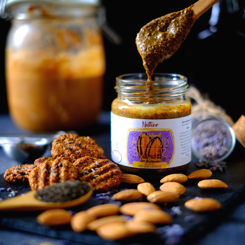 Nuttier All Natural Earl Grey Lavender Almond Butter Crafted In Singapore