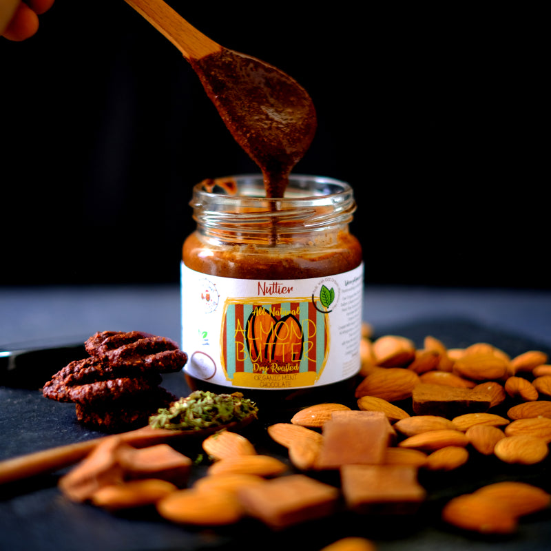 Nuttier Organic Mint Chocolate Almond Butter Crafted In Singapore