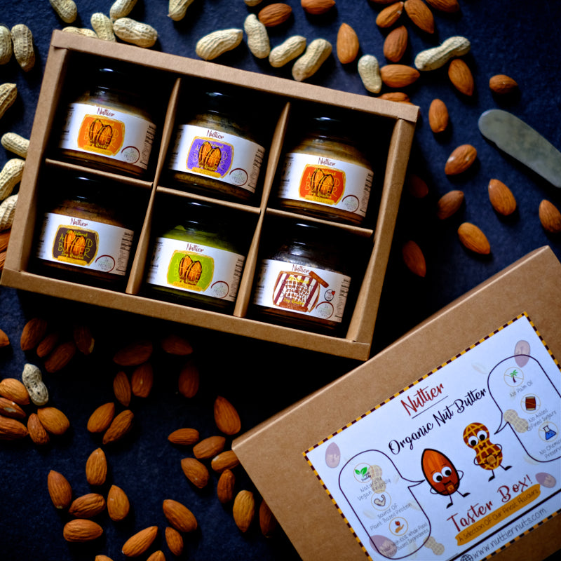 Nuttier Organic Nut Butter Taster Box Crafted In Singapore Vegan Friendly
