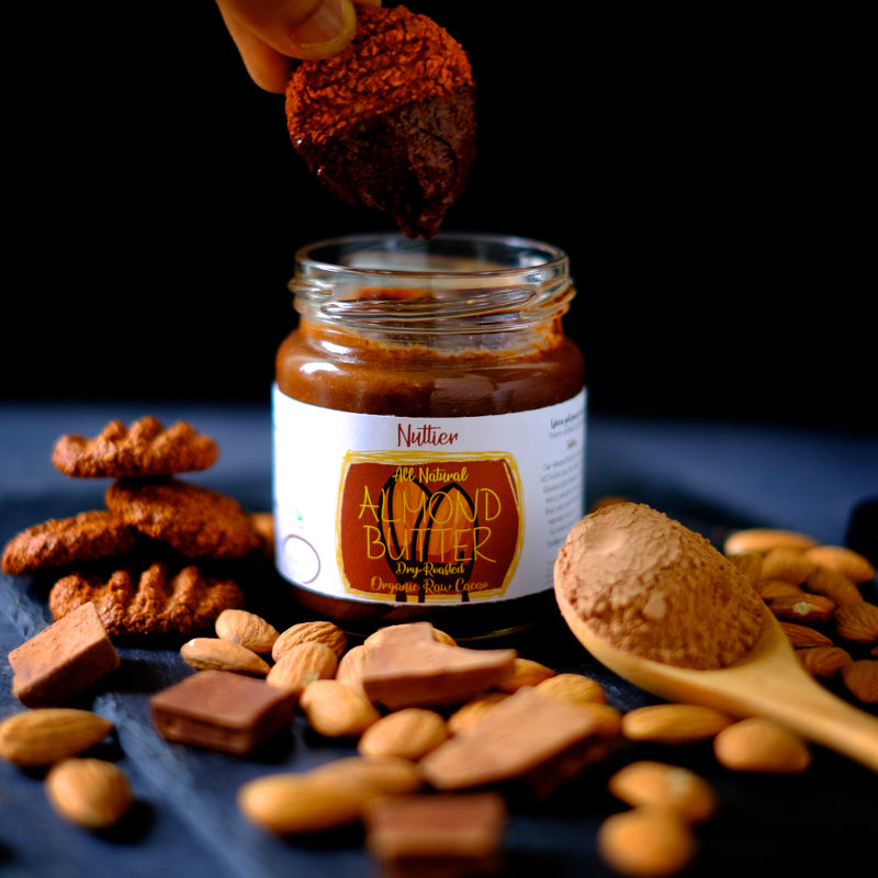 Nuttier All Natural Organic Raw Cacao Almond Butter Crafted In Singapore