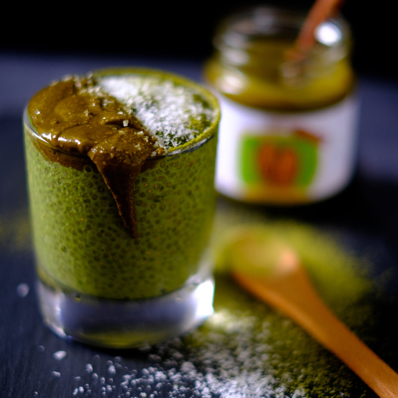 Nuttier Organic Matcha Almond Butter With Chia Pudding