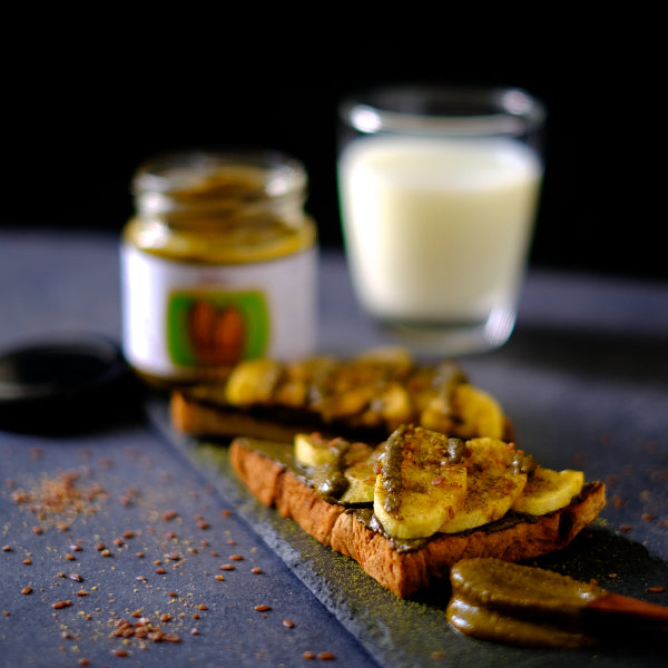 Nuttier Organic Matcha Almond Butter On Toast With Banana