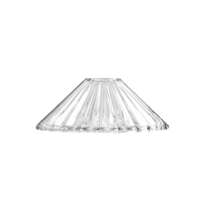 Clear Glass Shade Ridged Cone