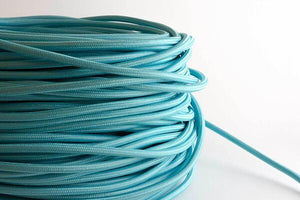 Aqua Fabric Cord by the Foot Hangout Lighting