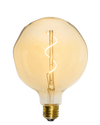 "Bulb: LED Amber Uneven 5"" Globe Mix Match Lighting"