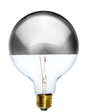 "Bulb: LED Chrome Dipped 5"" Globe Mix Match Lighting"