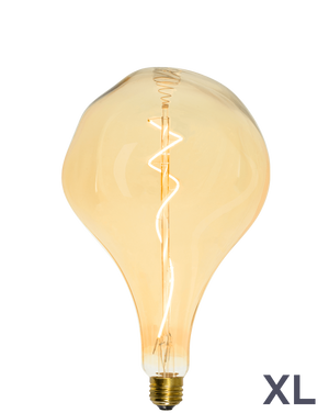 Bulb: LED XL Amber Uneven Organic Pear Mix Match Lighting