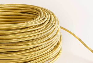 Gold Fabric Cord by the Foot Hangout Lighting