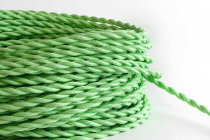 Mint Twisted Fabric Cord by the Foot Hangout Lighting