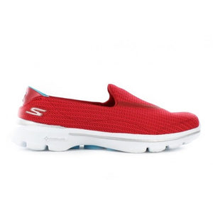 GO WALK 3 FITKNIT SLIP ON - RED BLUE