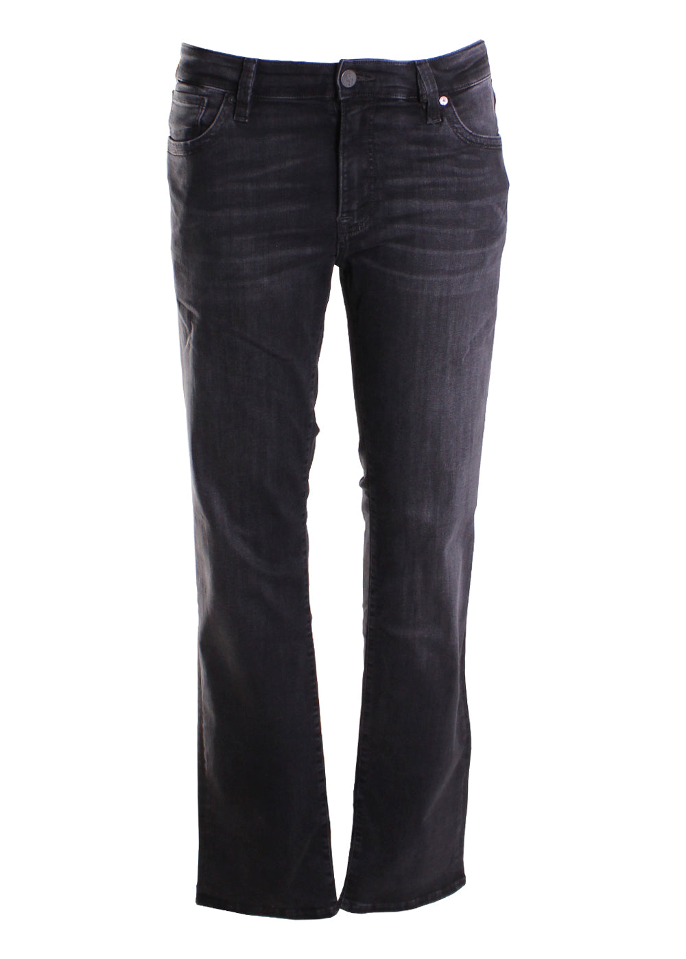 34 Heritage Courage Straight Leg Jeans in Coal Soft Comfort