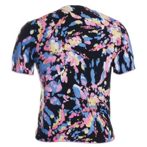 Abstract Printed Knit Short Sleeve Tee
