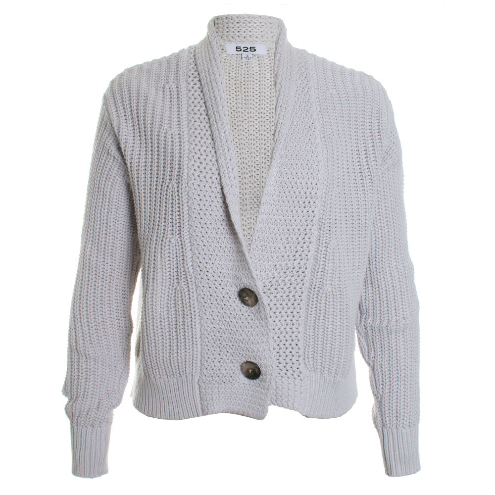 Cropped Knit Cardigan Sweater