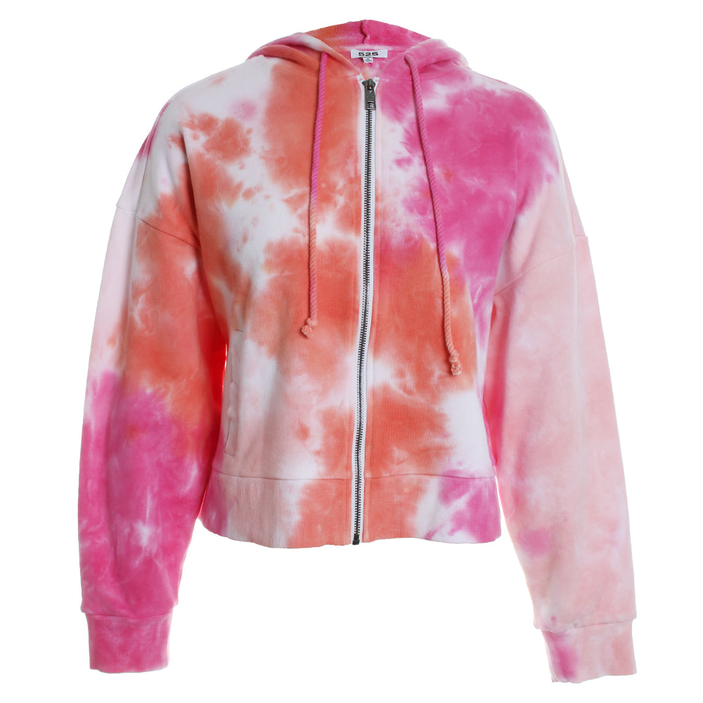 Tie Dye Hoodie Zip Up Sweater