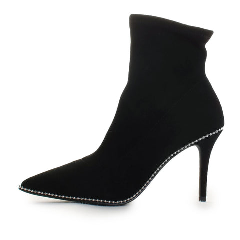 Whitny Suede Bead Trim Ankle Boots