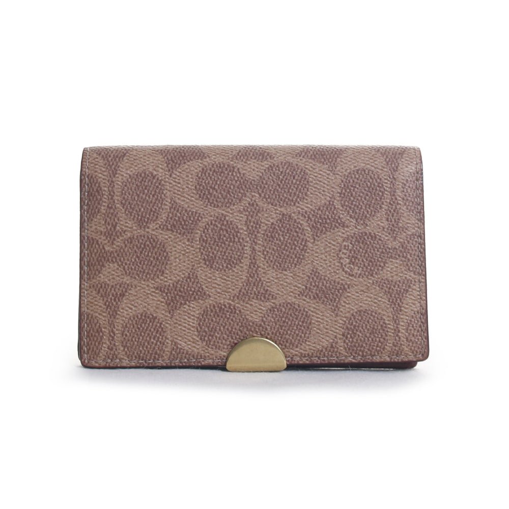 Dreamer Signature Canvas Leather Card Case