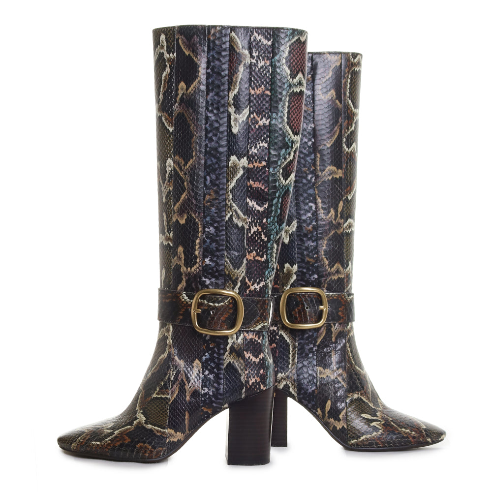 Evelyn Snakeskin Boot