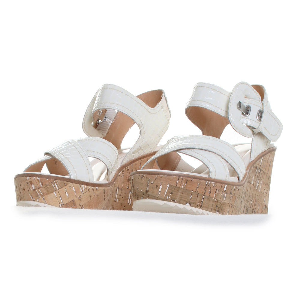 Judee Patent Leather Cork Wedge