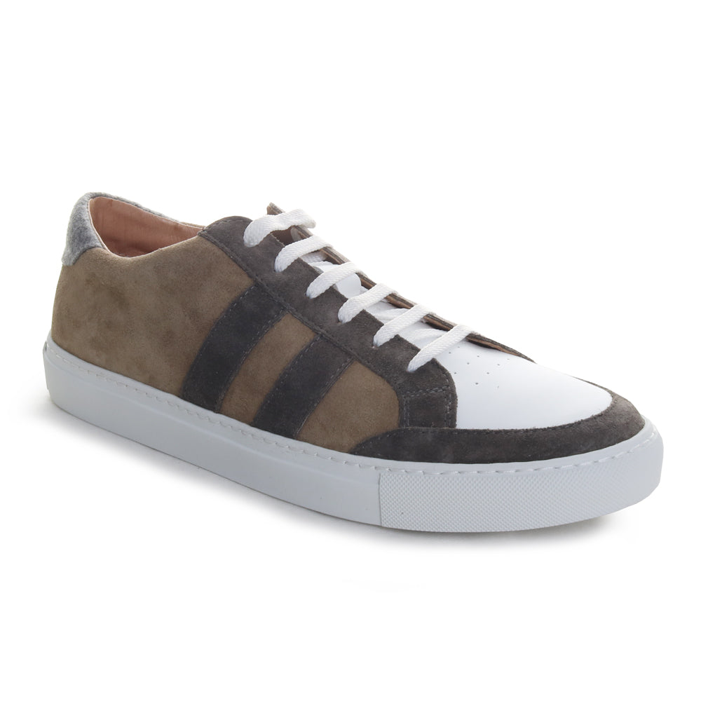 Double Stripe Suede Sneakers