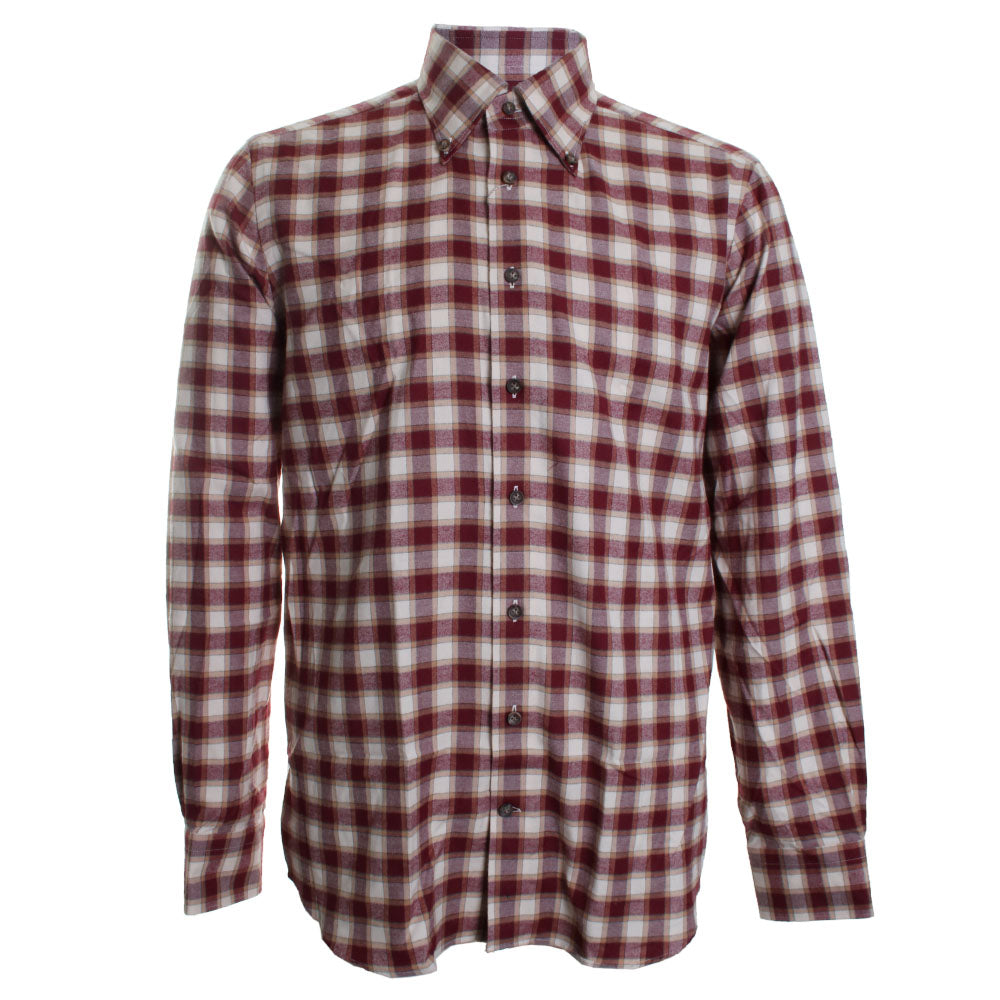 Plaid Cotton Button Down Shirt